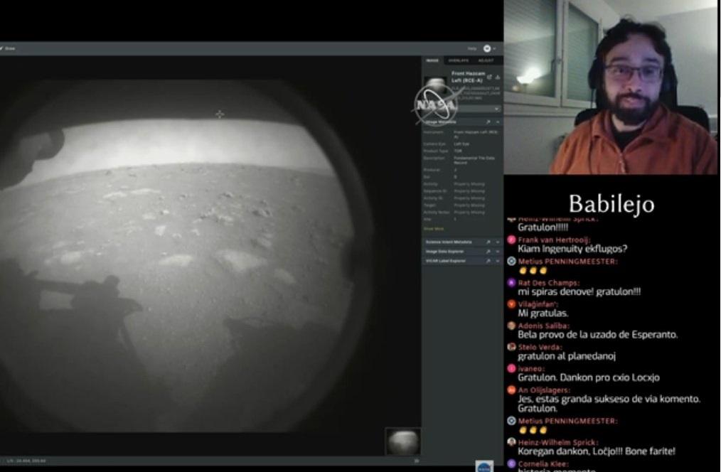 La unua foto, kiun Perseverance faris de Marso